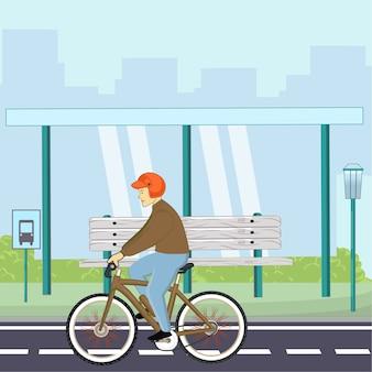Viajar de bicicleta pela cidade.