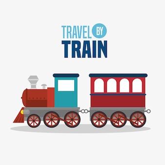 Viajar de trem conceito ícone vector ilustração design