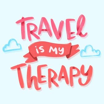 Viajar é minha rotulação de terapia