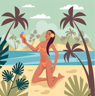 Viajar férias verão banner conceito