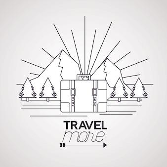 Viajar mais ilustração