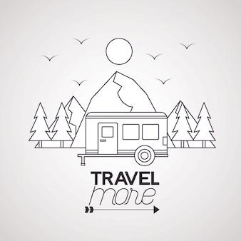 Viajar mais pôster