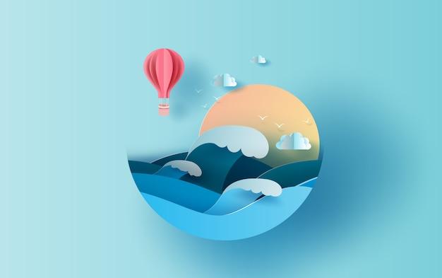 Viajar no conceito de temporada de verão de férias.