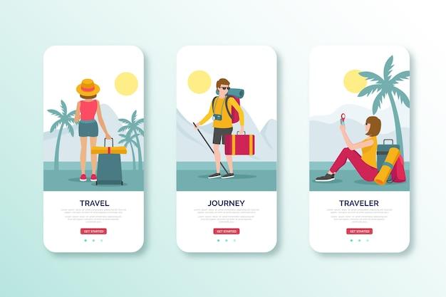 Viajar no design de interface móvel de luz do dia