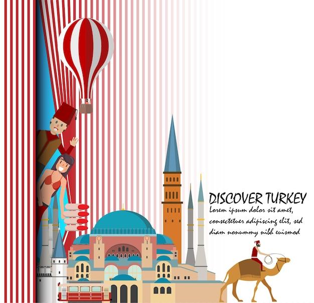 Viajar para o modelo de apresentação de turquia.