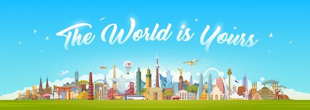 Viajar para o mundo. viagem.