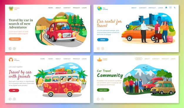 Viaje de carro em busca de novas aventuras na web