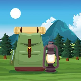 Viaje e aventure com mochila