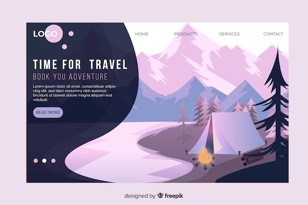 Viaje pela página de destino do mundo