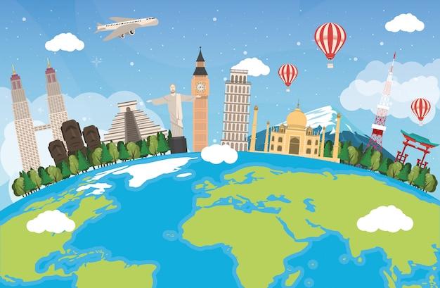 Viaje pelo design mundial com o planeta terra