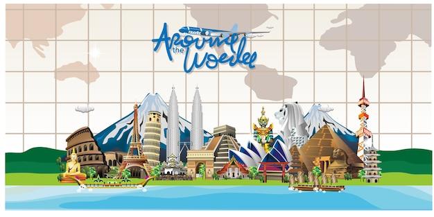 Viaje pelo destino mundial
