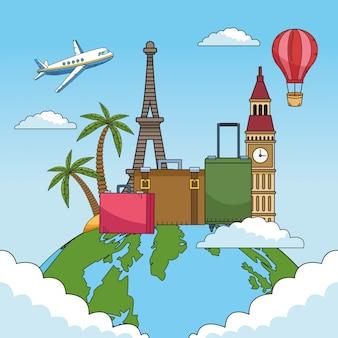 Viaje pelo mundo com o planeta