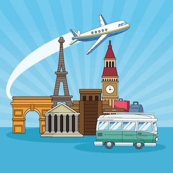 Viaje pelo mundo com van