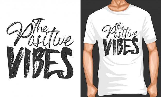 Vibrações positivas letras citações tipografia