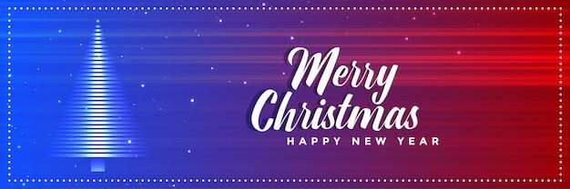 Vibrante feliz natal árvore banner design