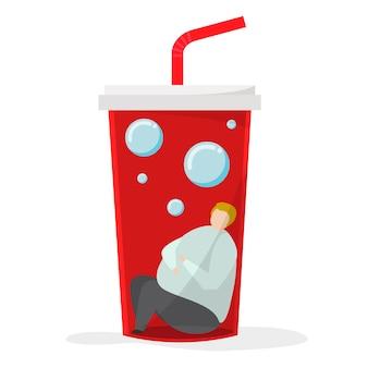 Viciado em bebidas doces e açúcar