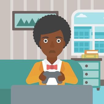 Viciado em vídeo gamer.