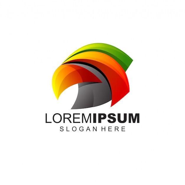 Victor de design de logotipo de pássaro