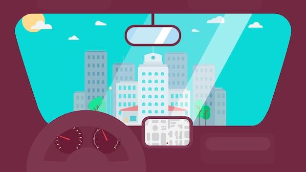 Vida da cidade do carro