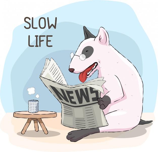 Vida lenta do cão
