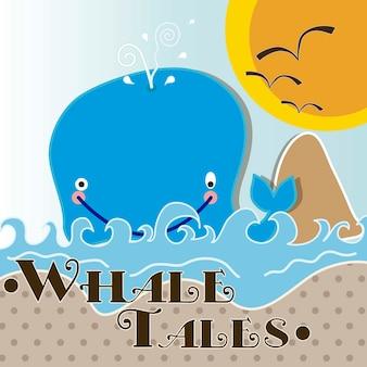 Vida marinha bonito da baleia