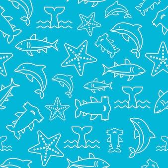 Vida marinha padrão sem emenda