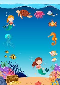 Vida marinha subaquática surpreendente