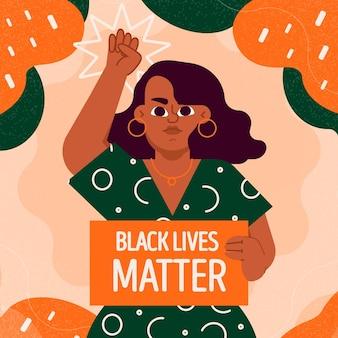 Vida negra importa ilustrada