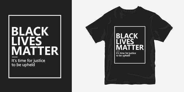 Vidas negras importa citações de design de t-shirt de cartaz