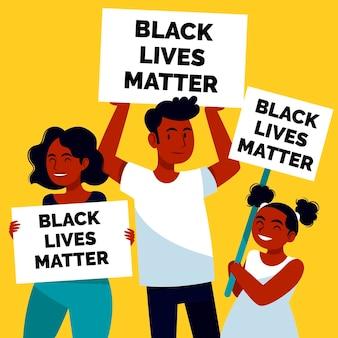 Vidas negras importam cartazes