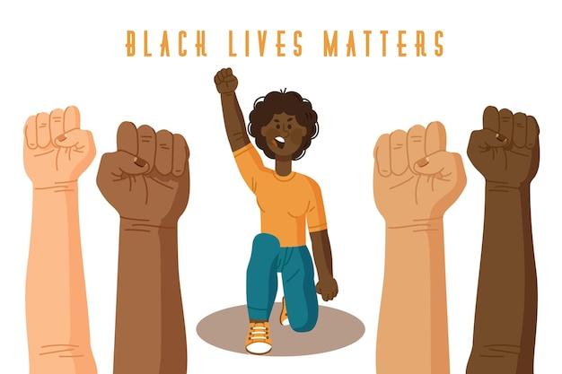 Vidas negras importam conceito ilustrado