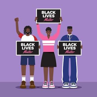 Vidas negras importam conceito