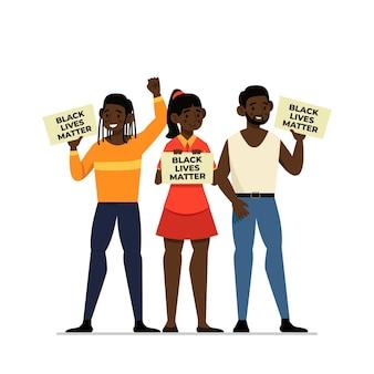 Vidas negras importam ilustração