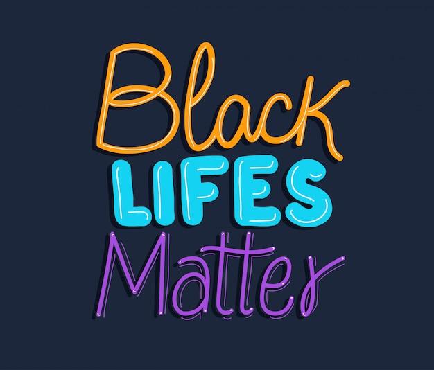 Vidas negras importam texto