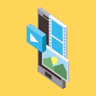 Vídeo da tecnologia do telemóvel do armazenamento