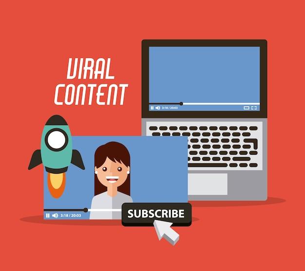 Vídeo de conteúdo viral