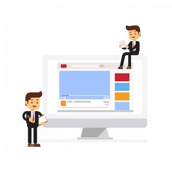 Vídeo do canal da equipe de negócios on-line