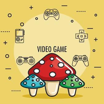 Video game cogumelos divertido jogo