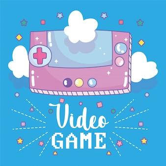 Vídeo game console portátil dispositivo de entretenimento dispositivo eletrônico cartoon