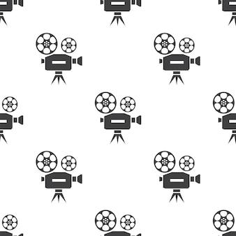 Vídeo, padrão sem emenda de vetor, editável pode ser usado para planos de fundo de páginas da web, preenchimentos de padrão