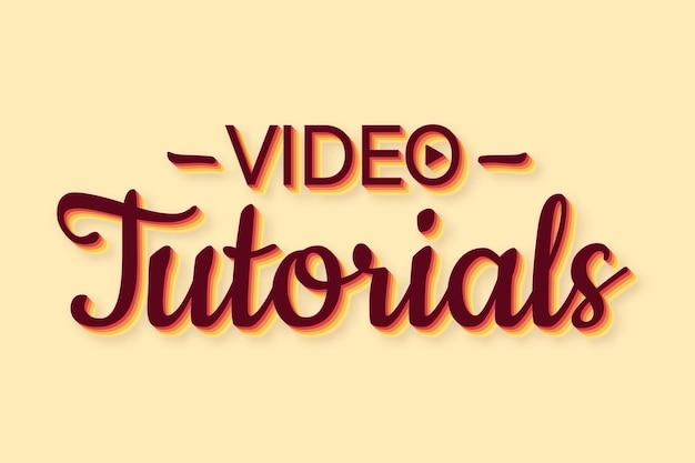 Vídeo tutoriais ícone de estilo retro estudo e aprendizagem de fundo de educação a distância