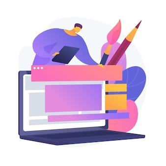 Vídeo tutorial de design gráfico. curso de arte tradicional na internet. masterclass online do pintor. aula a distância de web designer. pintura, e-learning, educação.