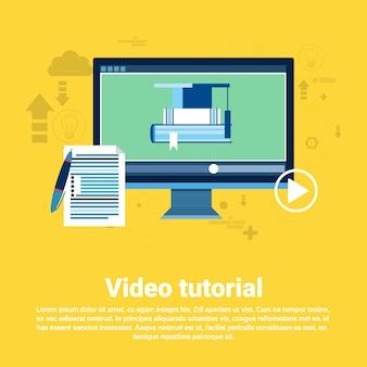 Vídeo tutorial editor concept modern technology