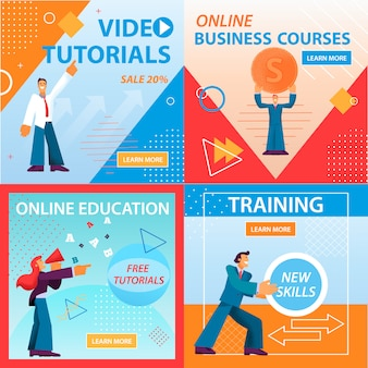 Video tutorials online education cursos de negócios.
