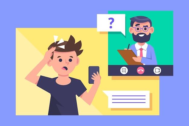 Videocalling com o conceito de terapeuta