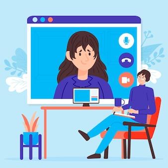 Videocalling com terapeuta