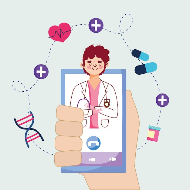 Videochamada de consultas médicas