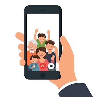 Videochamada de família