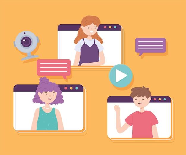 Videoconferência de pessoas