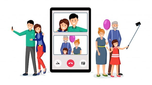 Videoconferência família